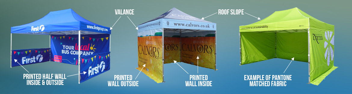 Printed Pop Up Gazebos